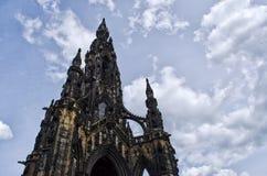 памятник scott edinburgh Стоковое Изображение