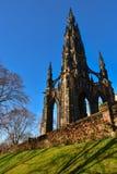 памятник scott edinburgh Стоковые Изображения RF