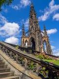 памятник scott edinburgh Стоковое Изображение RF