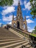 памятник scott edinburgh Стоковая Фотография RF