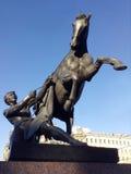 Памятник tamers лошади в Санкт-Петербурге России Стоковое фото RF
