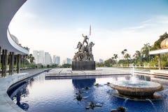 Памятник Tugu Negara, популярное туристское назначение в Куалае-Лумпур стоковые изображения rf