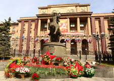 Памятник Zhukov маршала Стоковое Изображение