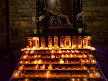 память горящие свечки стоковое изображение