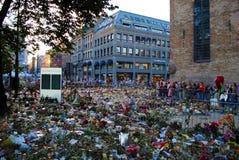 Память жертв террора в Осло Стоковые Фотографии RF