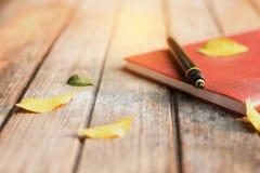 Память ручки и тетради в лете Стоковое Фото