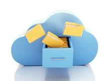 память файла 3d в облаке заволоките связывая ресурсы принципиальной схемы компьютера вычисляя обнаруженные местонахождение компьт Стоковое фото RF