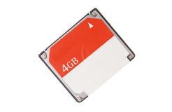 Память Cf для изолированной вспышки компакта компьютера камеры Стоковая Фотография