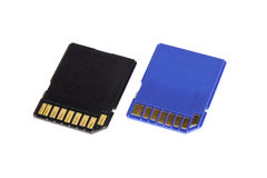 Память Sd для изолированной вспышки компьютера камеры microdrive компактной Стоковое Изображение RF