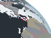 Панама с флагом на глобусе иллюстрация вектора