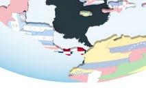 Панама с флагом на глобусе бесплатная иллюстрация