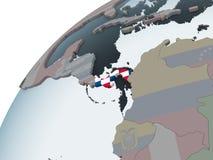 Панама с флагом на глобусе иллюстрация штока