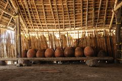 Панама, традиционный дом резидентов архипелага Сан Blas Стоковые Изображения RF