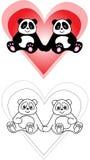 панда влюбленности стоковая фотография