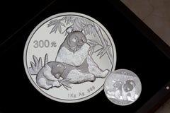 панда монетки фарфора стоковые фото