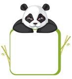 панда рамки Иллюстрация вектора