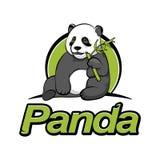Панда сидит и ест бамбук иллюстрация штока
