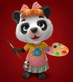 панда художника Стоковые Изображения