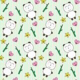 панды kawaii предпосылки милые Стоковое Фото