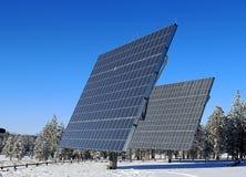 Панели солнечных батарей на национальном парке каньона Bryce стоковые изображения rf