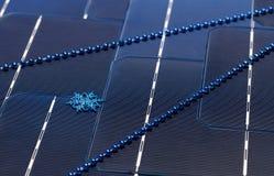 Панели солнечных батарей украшенные к праздникам ` s Нового Года Стоковые Фото