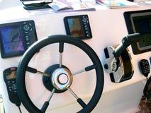 панель мотора управлением шлюпки стоковые фото
