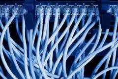 Панель, переключатель и кабель сети в центре данных Стоковые Изображения RF