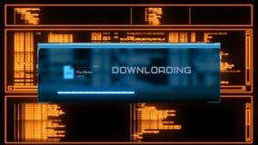 Панель процесса загрузки видеоматериал