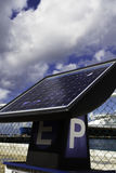 Панель солнечных батарей автопарковочного счетчика Стоковые Изображения