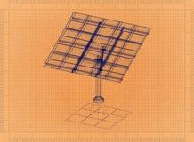 Панель солнечных батарей - ретро светокопия Стоковая Фотография
