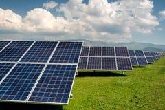 Панель солнечных батарей, фотовольтайческий, альтернативный источник электричества - conc Стоковое фото RF