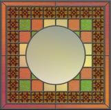 Панель цветного стекла с пустым космосом для содержания бесплатная иллюстрация