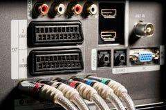 панель tv контактов Стоковая Фотография RF