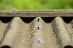 Панели азбеста на крыше стоковая фотография