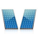 Панели солнечных батарей энергии Стоковые Изображения