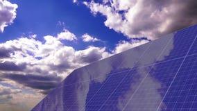 Панели солнечных батарей Timelapse видеоматериал