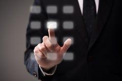 Панель бизнесмена касающая виртуальная Стоковое Изображение