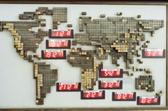Панель мира с временем Стоковая Фотография