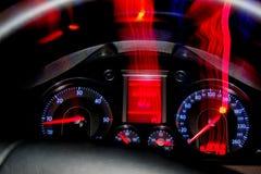 Панель приборов в VW B6 автомобиля Стоковое Фото