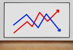 Панель плазмы с диаграммой Стоковое Изображение RF
