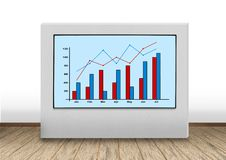 Панель плазмы с диаграммой Стоковые Фото