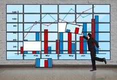 Панель плазмы с диаграммой Стоковые Фотографии RF
