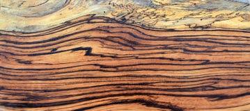 Панель древесины зебры Spalted Стоковые Изображения RF