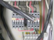Панель силового кабеля электрическая Стоковая Фотография