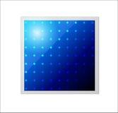 Панель солнечных батарей вектора. Значок. Стоковые Изображения RF
