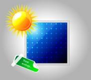 Панель солнечных батарей вектора. Значок. Стоковые Фото