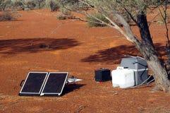 Панель солнечных батарей в австралийском кусте Стоковое Изображение RF