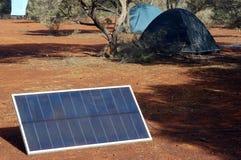 Панель солнечных батарей в австралийском кусте Стоковые Фото