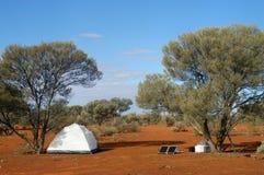 Панель солнечных батарей в австралийском кусте Стоковая Фотография RF