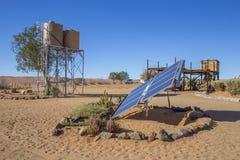 Панель солнечных батарей в ферме Gunsbewys в южной Намибии Стоковое Изображение